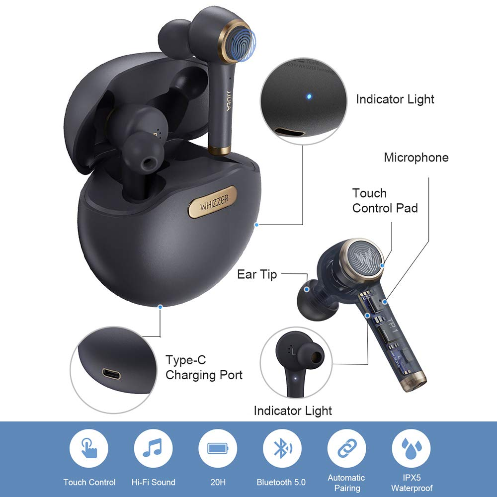 Whizzer TP1 TWS Earbuds Wireless Bluetooth earphones
