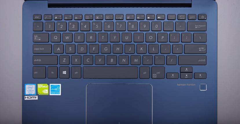 ASU ZenBook UX331 thin and light laptop keyboard