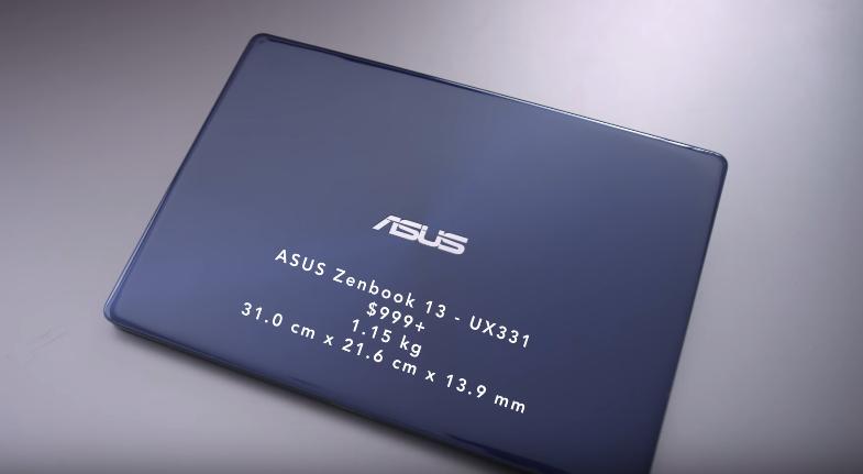 ASU ZenBook 13 UX331 thin and light laptop then