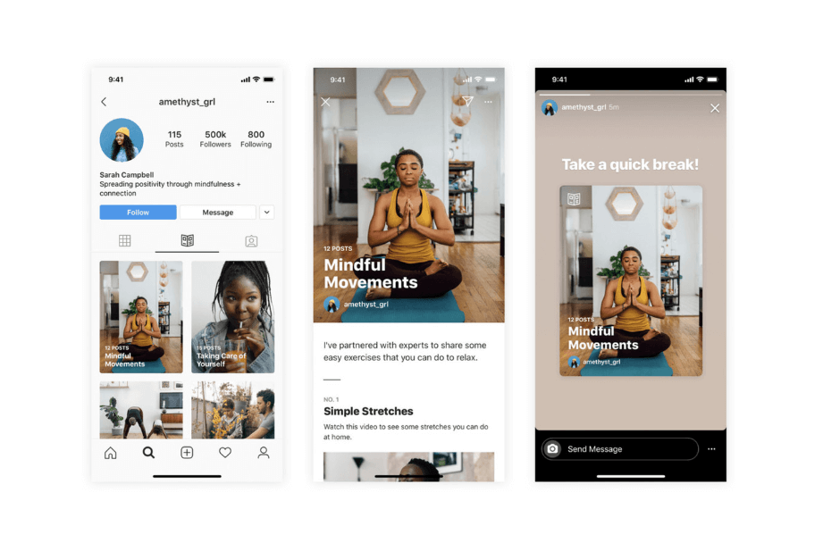 Instagram adds Guides recommendations with selected content from institutions and influencers