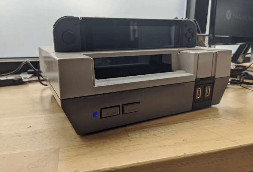 New life to the NES transform it into a Nintendo Switch dock