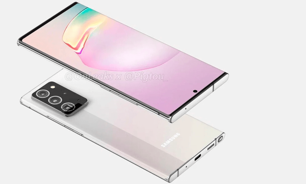 Samsung Galaxy Note 20 Plus shown in leaked renders