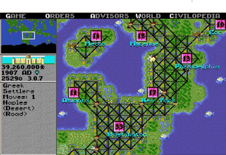 best games of the MS-DOS era - Civilization (MicroProse, 1991)
