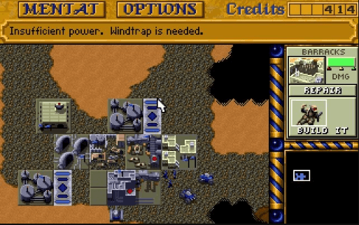best games of the MS-DOS era - Dune 2 - The Building of a Dinasty (Westwood Studios, 1992)