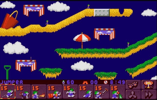 best games of the MS-DOS era - Lemmings 3 - All New World of Lemmings (Psygnosis, 1994)