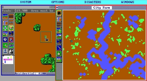 best games of the MS-DOS era - SimCity (Maxis, 1989)