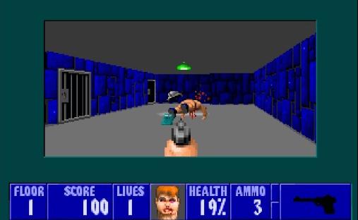 best games of the MS-DOS era - Wolfenstein 3D (id Software, 1992)