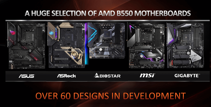 the new AMD B550 chipset