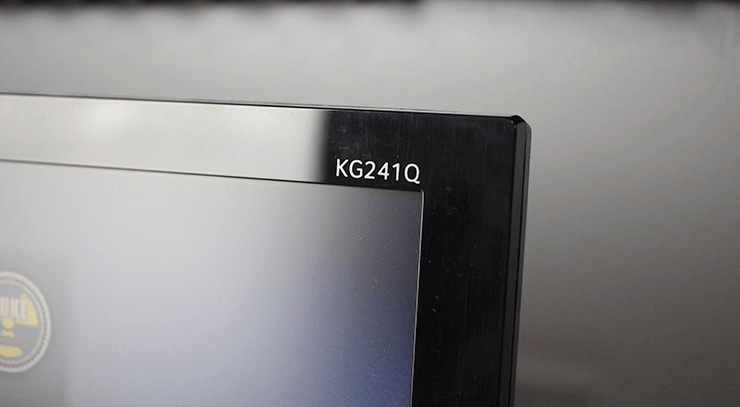 Acer KG241Q 144Hz Monitor Review - Monitor name is at the top right