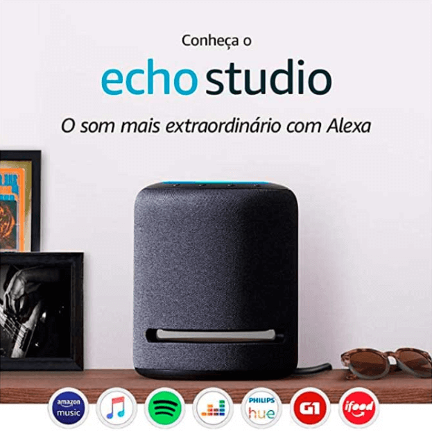 Amazon launches Echo Studio for Brazil - Smart Speaker with high fidelity audio and Alexa