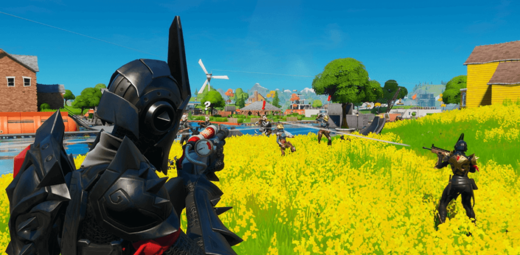 Fortnite Chapter 2 floods locations, adds sharks to battles, and features Aquaman skin
