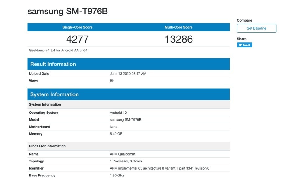 Samsung Galaxy Tab S7 Plus benchmarks indicate little progress compared to its predecessor