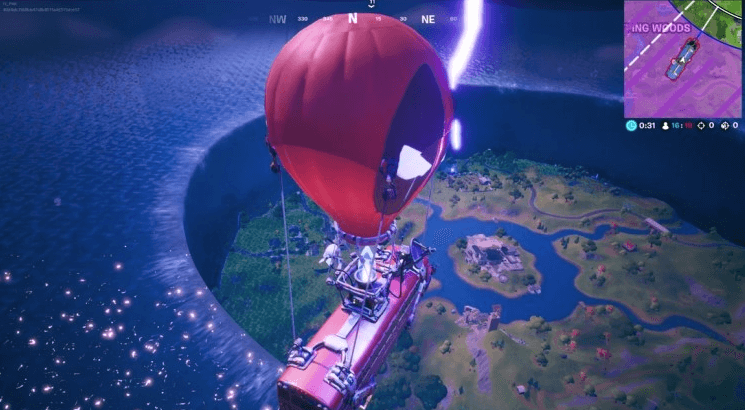 The Device event sinks Fortnite map