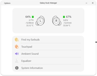 Unofficial app allows good management of Galaxy Buds directly from Windows