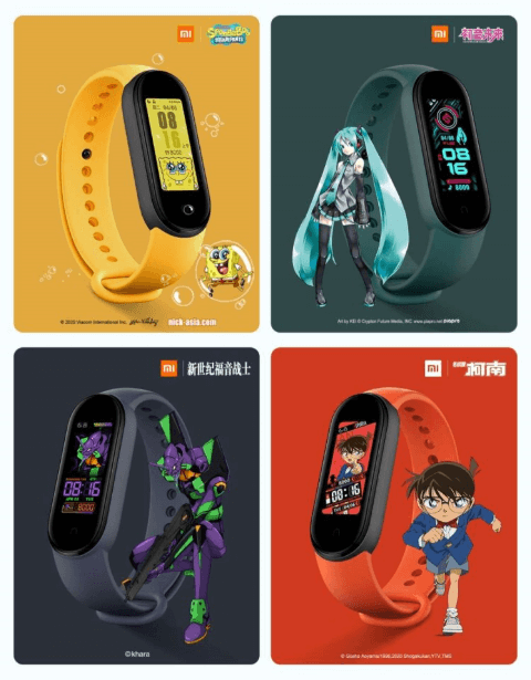 Xiaomi Mi Band 5 Smartband Launches- What Has Changed to Mi Band 4 - New Mi Band 5 dials (watchfaces)