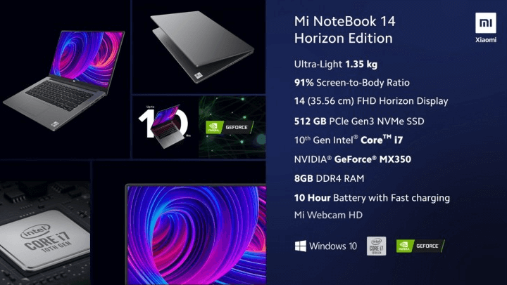 Xiaomi launches Mi NoteBook 14 ultrabooks with 10th generation Intel