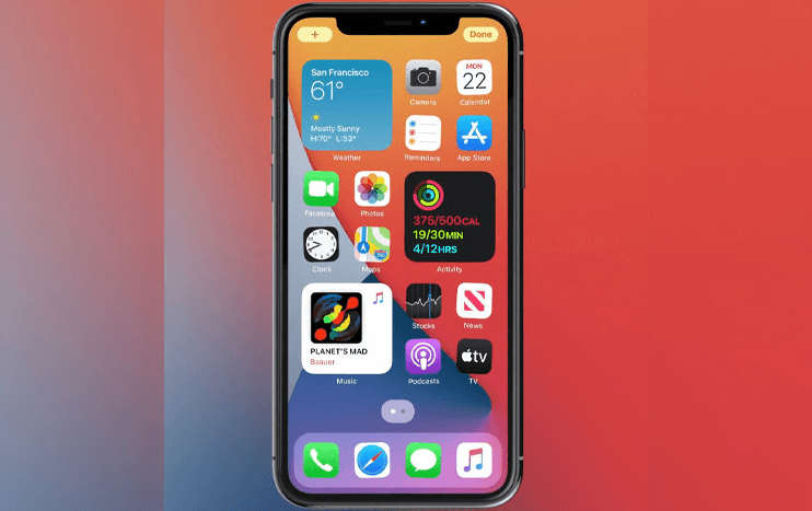 details and new functions of the New iOS 14 - Widgets come in various sizes and can be placed anywhere on the Home Screen