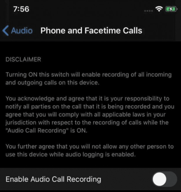 iOS 14 can bring call recording support