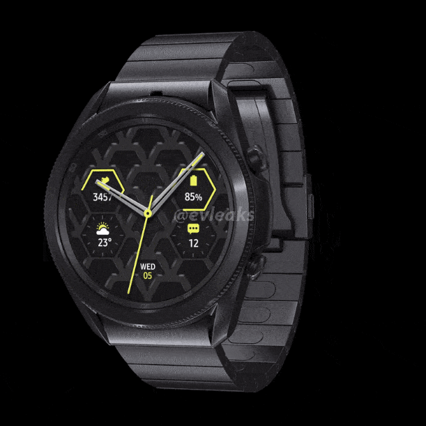 Animated rendering shows details of Galaxy Watch 3