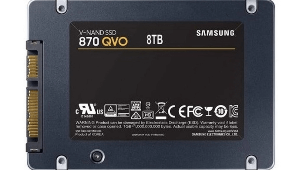 Samsung's new 870 QVO line features the 1st 8 TB SSD for consumers