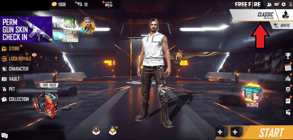 Tip! Learn how to create a custom room on Free Fire - Select the mode