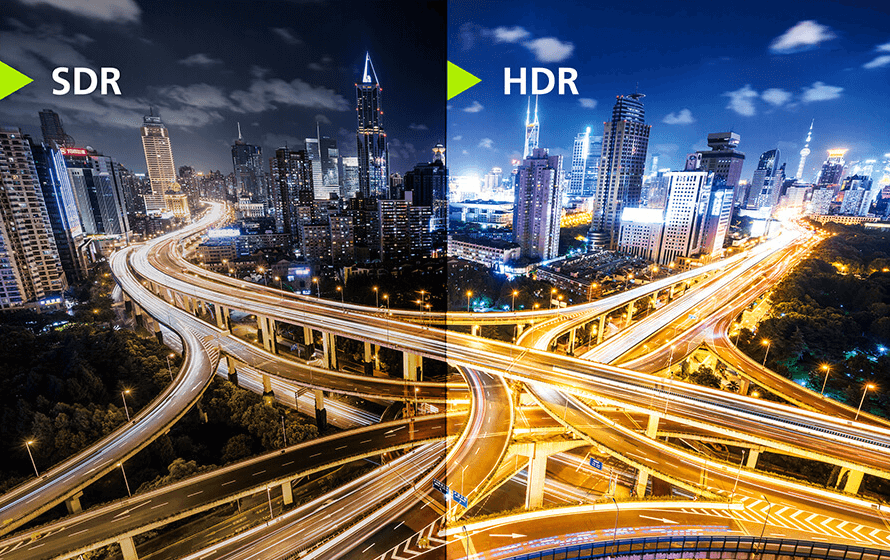 See the color difference between the SDR and HDR image format