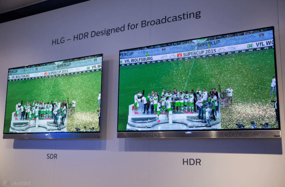The HDR HLG is ideal for live streaming, and can feature a lawn with a bright green as shown in the image