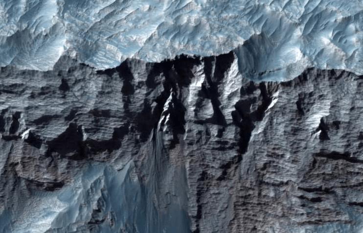 Valles Marineris, the largest canyon in the Solar System. (Image- NASA - JPL - University of Arizona)
