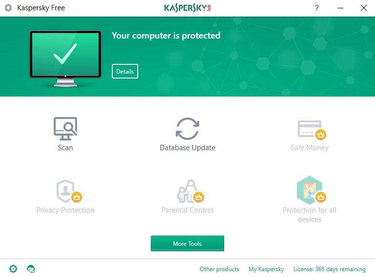 The best free antivirus for Windows in 2021 - Kaspersky Security Cloud Free