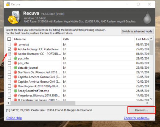 How to recover deleted or corrupted files (Windows and Android) - Recuva - Recover the files