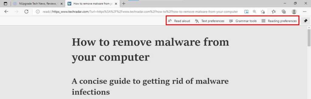 How to enable advanced reading mode in Microsoft Edge -Advanced Reading Settings
