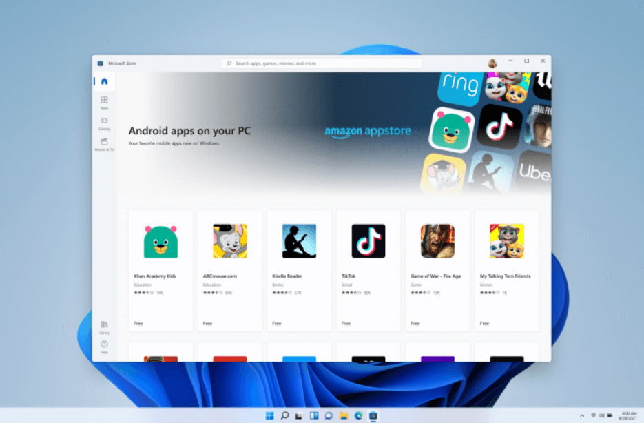 What's New in Microsoft's Systems - Android Apps on Windows 11