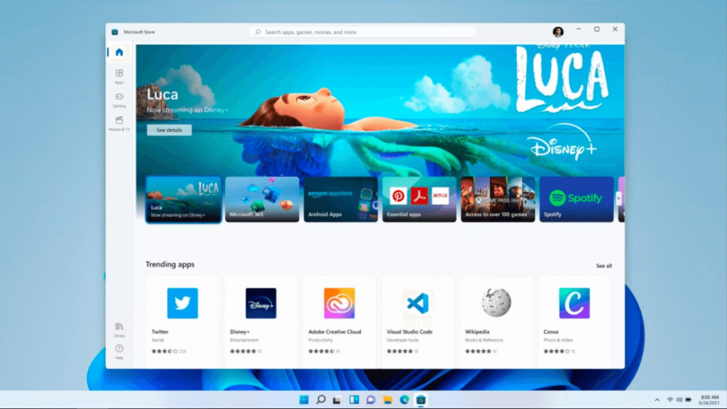 What's New in Microsoft's System? -Microsoft Store redesigned in Windows 11